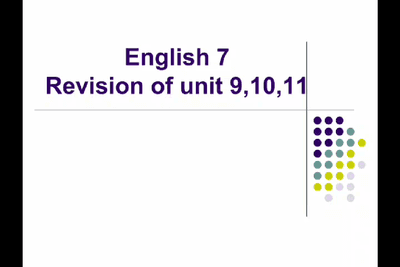 Tiếng Anh 7_Revision of unit 9, 10, 11